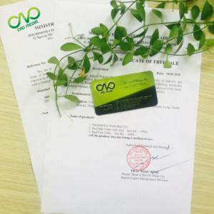 Dịch vụ xin giấy phép lưu hành tự do   CFS cho mứt trái cây