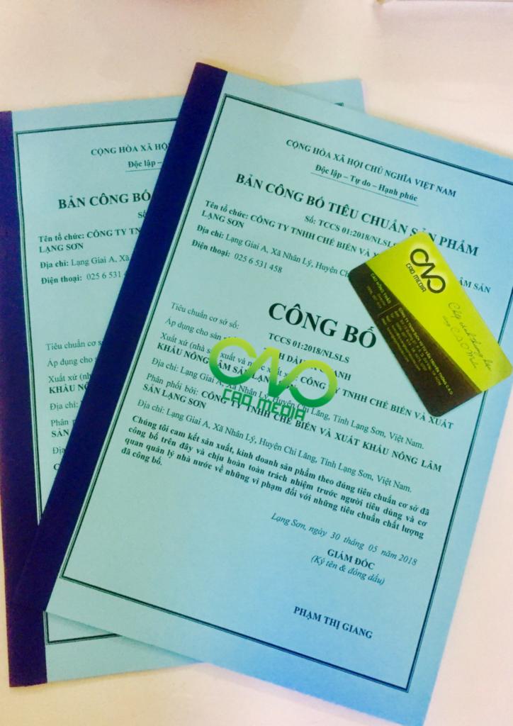 Công bố tiêu chuẩn cơ sở tinh dầu sả chanh