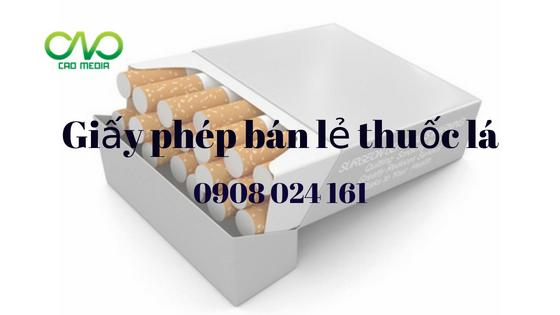 Quy định về việc xin giấy phép kinh doanh thuốc lá