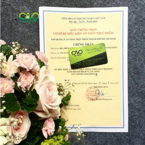 Mẫu giấy chứng nhận cơ sở đủ điều kiện an toàn thực phẩm