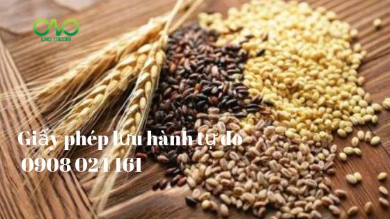 Xin giấy phép CFS sản phẩm nông sản hàng hóa xuất khẩu