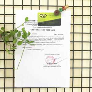 Xin giấy chứng nhận lưu hành tự do hạt điều nhân
