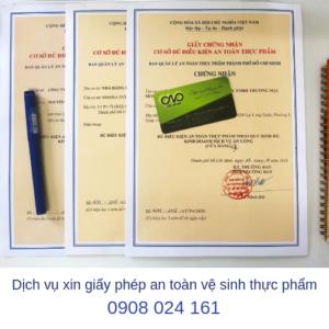 Dịch vụ xin giấy phép an toàn thực phẩm cho quán trà sữa trọn gói