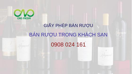 Dịch vụ xin giấy phép bán rượu trong khách sạn