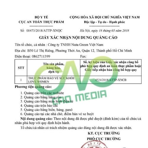 Quy trình xin giấy phép quảng cáo tại Bộ y tế