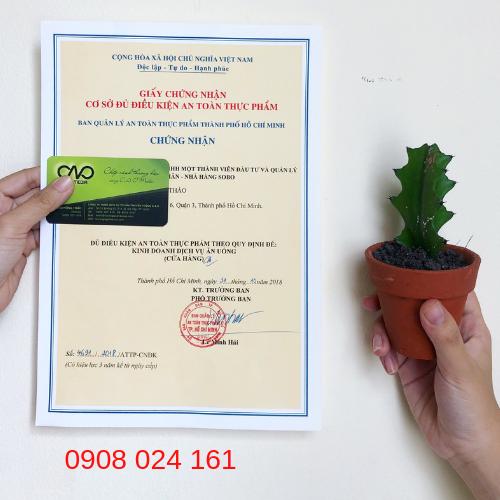Thời gian xin giấy phép vệ sinh an toàn thực phẩm bao lâu?