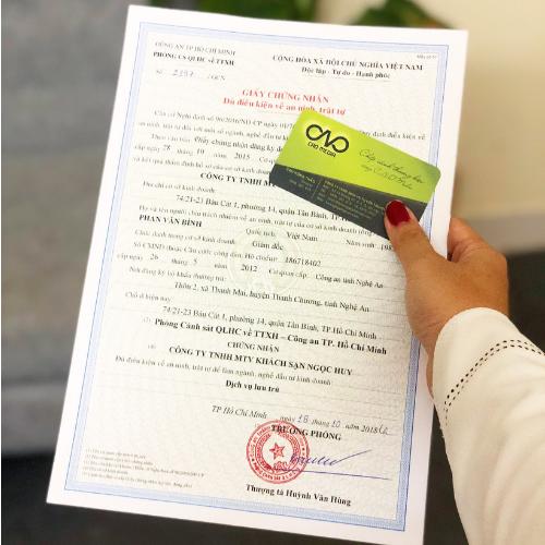 Quy trình xin giấy chứng nhận an ninh trật tự cho khách sạn theo quy định mới
