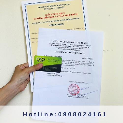 Xin giấy chứng nhận Certicate of Free Sales - CFS cho hàng hóa xuất khẩu