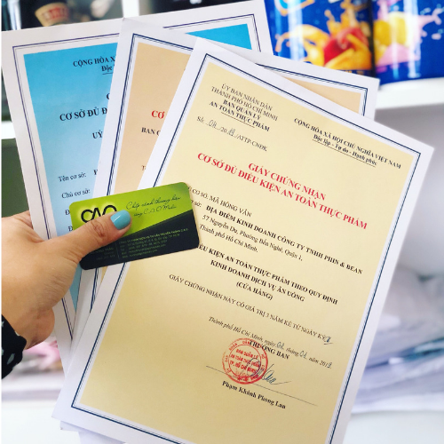 Xin giấy phép an toàn thực phẩm cửa hàng ăn uống