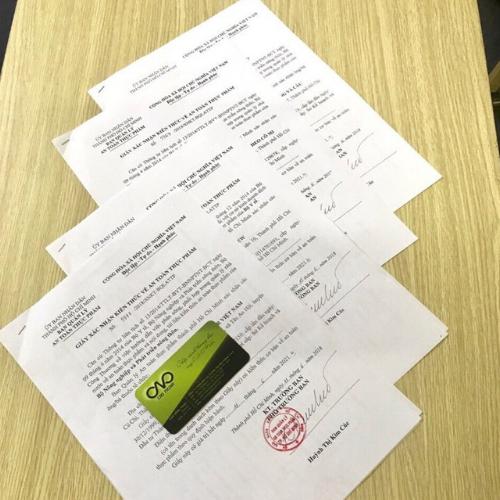 Thủ tục cấp giấy xác nhận kiến thức an toàn thực phẩm