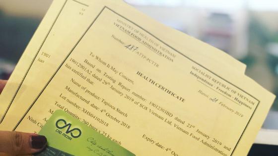 Thực hiện xin giấy chứng nhận y tế - Health Certificate