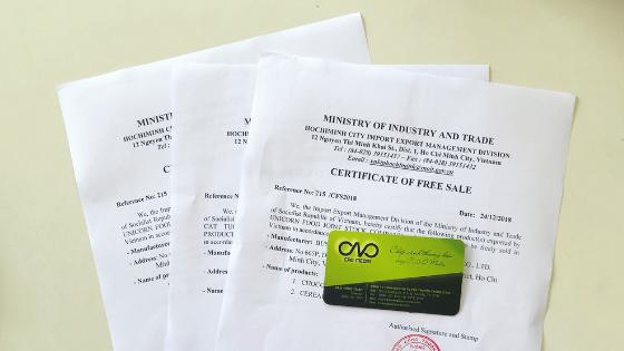 Cấp giấy chứng nhận lưu hành tự do cho sản phẩm
