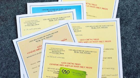 Xin giấy chứng nhận đủ điều kiện an toàn thực phẩm thuộc quản lý của Bộ Công Thương