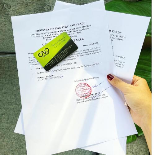Thẩm quyền cấp giấy certificate of free sale tại việt nam