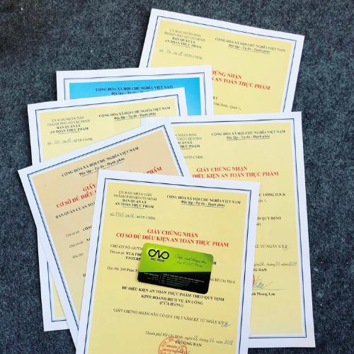 Cấp giấy chứng nhân an toàn thực phẩm cho cơ sở sản xuất thuộc quản lý của bộ y tế