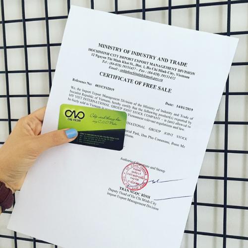 Giấy Certificate of free sale cho hàng hóa xuất khẩu