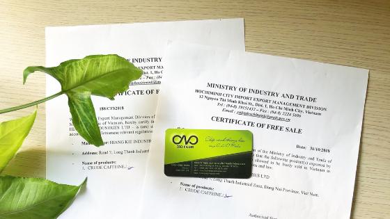giấy chứng nhận lưu hành sản phẩm xuất khẩu