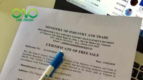 Hồ sơ xin giấy chứng nhận lưu hành tự do cà phê xuất khẩu