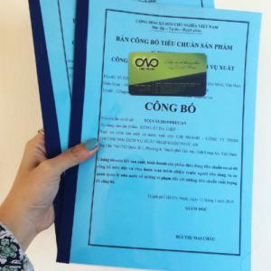 Công bố tiêu chuẩn cơ sở cho khẩu trang y tế