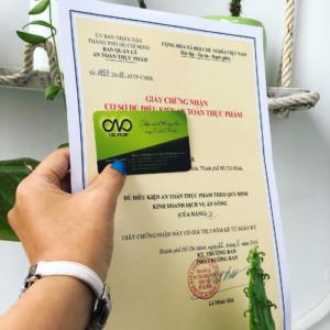 Cấp giấy phép an toàn thực phẩm cho cửa hàng ăn uống