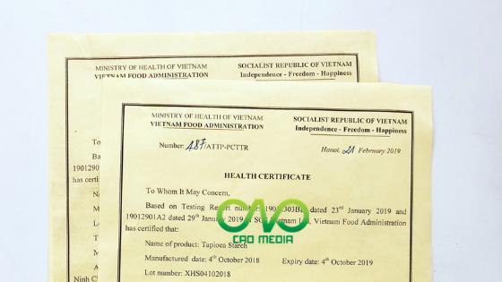 Hướng dẫn xin giấy Health Certificate tại bộ y tế