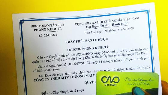 Xin giấy phép bán rượu tại quận tân phú