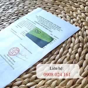 Thực hiện xin giấy Certificate of free sale cho hạt điều xuất khẩu