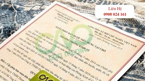Dịch vụ xin giấy phép bán rượu tại quận 1 trọn gói