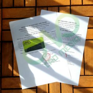 Quy định về giấy phép lưu hành tự do sản phẩm