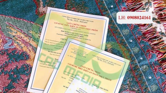 Xin cấp giấy chứng nhận vệ sinh an toàn thực phẩm cho hộ kinh doanh sản xuất bún tươi