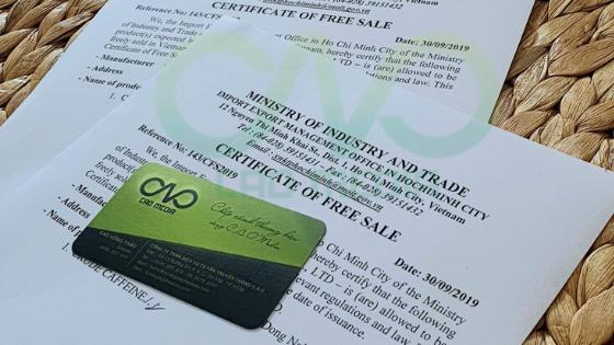 Xin giấy certificate of free sale cho đường phèn xuất khẩu