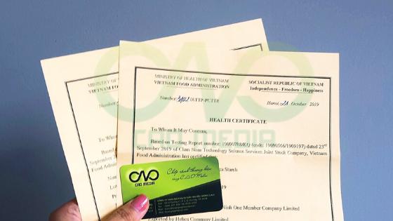 Xin giấy chứng nhận y tế (HC) cho thực phẩm xuất khẩu