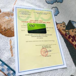 Xin giấy chứng nhận an toàn thực phẩm cho nhà hàng quận 3