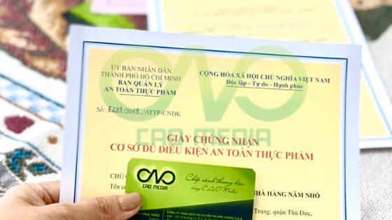 Xin giấy chứng nhận an toàn thực phẩm cho quán cơm văn phòng