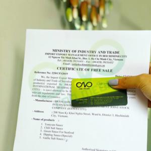 Điều kiện xin giấy phép lưu hành tự do cho các sản phẩm gia vị