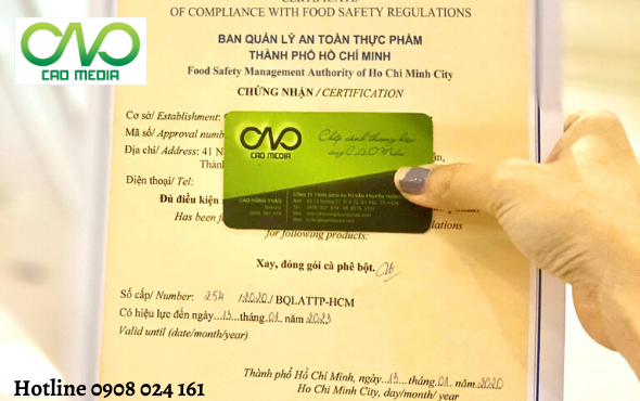 Đăng ký vệ sinh an toàn thực phẩm cho cơ sở đóng gói cà phê