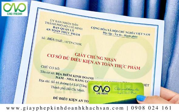 Giấy chứng nhận ATTP tại quận Bình Tân