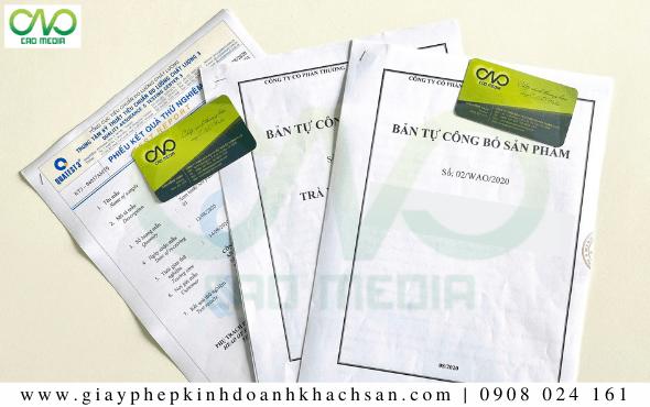 Bản công bố chất lượng sản phẩm bột trà xanh