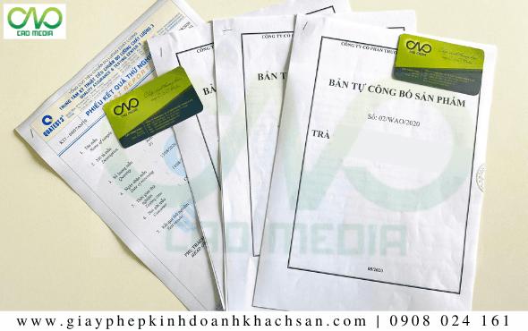 Bản công bố chất lượng sản phẩm trà gạo lứt