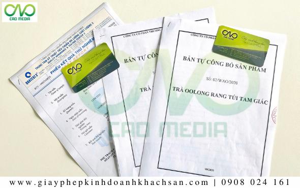 Bản công bố chất lượng sản phẩm trà ô long