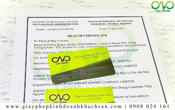 Quy trình xin giấy chứng nhận Health Certificate sản phẩm bột tỏi