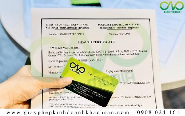 Dịch vụ xin giấy chứng nhận y tế bánh bao lá dứa tại C.A.O Media