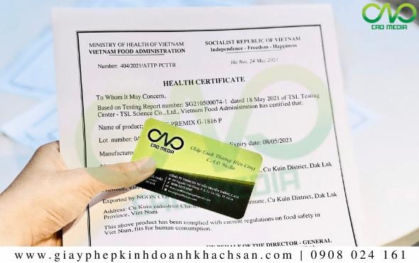 Dịch vụ xin giấy chứng nhận y tế bánh bao thanh long TRỌN GÓI