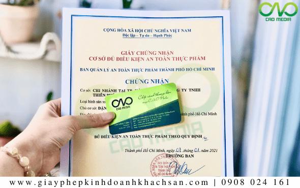 Làm giấy phép ATTP cho cơ sở bánh bao trà xanh tại C.A.O Media