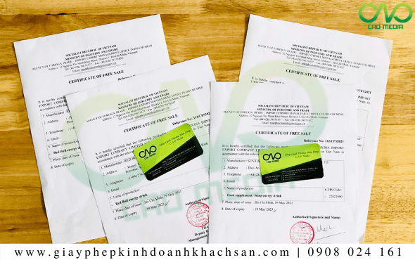 Xin giấy phép Certificate of free sale bánh bao không nhân