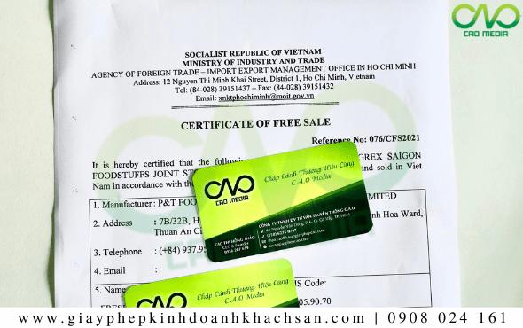 Dịch vụ xin giấy phép lưu hành tự do bánh bao mè đen